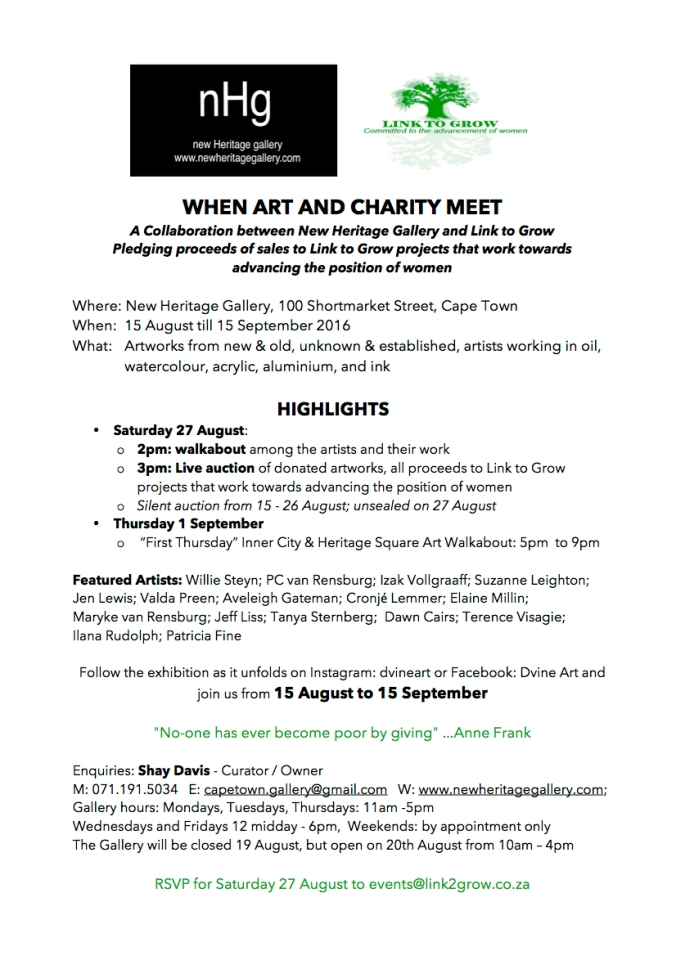 LTG Exhibition Art and Charity Project Invitation