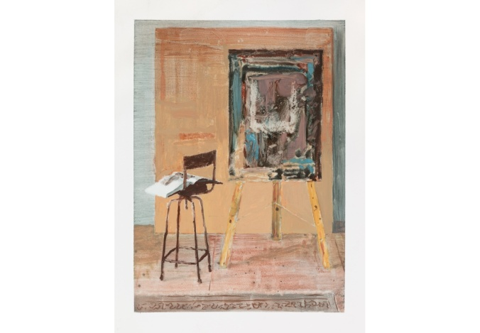 painting board with Corot Ian Grose